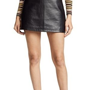 Cupcakes and Cashmere leather skirt
